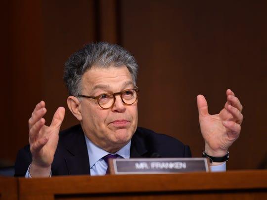 Sen. Al Franken questions Supreme Court nominee Neil Gorsuch on March 22, 2017.