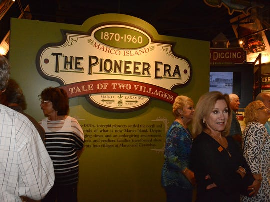 "The Marco Island Historical Museum opened their new exhibit ""The Pioneer Era: A Tale of Two Villages,"" with a reception for invited guests in January."