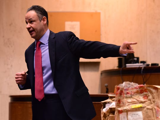 Ralph Amirata, Essex County Assistant Prosecutor, gives his closing arguments to the jury. Attorneys conduct their closing arguments for Basim Henry's involvement in the carjacking and murder of Dustin Friedland at The Mall at Short Hills in December of 2013.