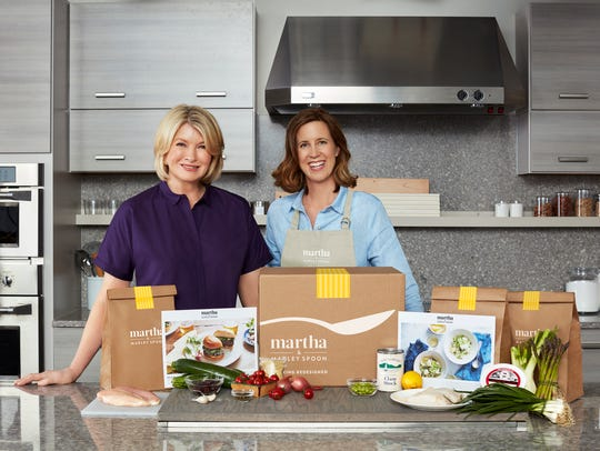 Jennifer Aaronson, right, was the editorial director for all things Martha Stewart, left. The two are now the culinary forces behind Martha & Marley Spoon.