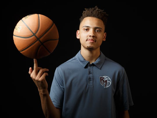 Rancho Mirage senior Charles Neal, photographed on Wednesday, March 29, is selected by The Desert Sun as the top basketball player in the valley.