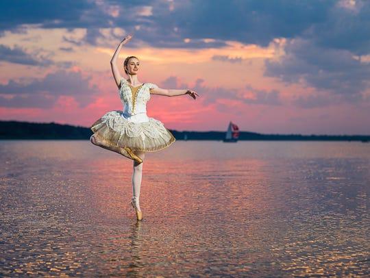 Demetra Chiafos of Marion dances in her senior picture.