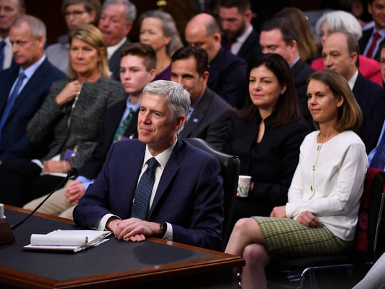 Supreme Court nominee Neil Gorsuch testifying two weeks