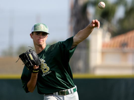 St. Bonaventure's Jake Saum is one of many aces on the mound for county baseball teams.