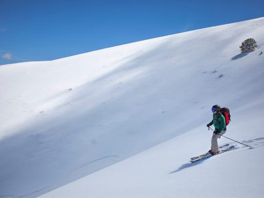 Outdoors writer Benjamin Spillman skiing the Toiyabe Range on April 1, 2017.