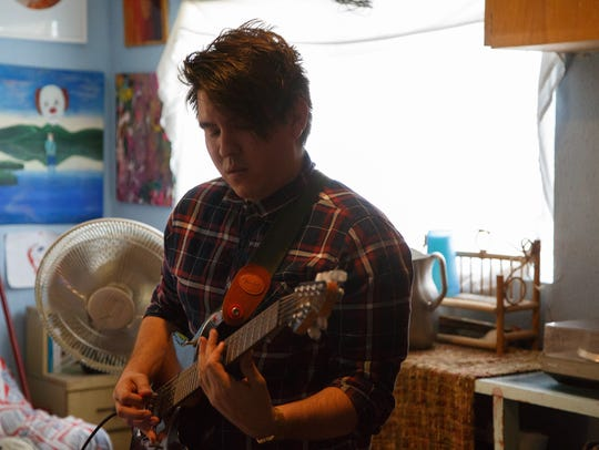 Wilber Pacheco practices with The Tribesmen in Coachella,