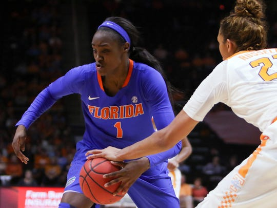 Florida guard/forward Ronni Williams (1) was drafted by the Fever with the 22nd pick.