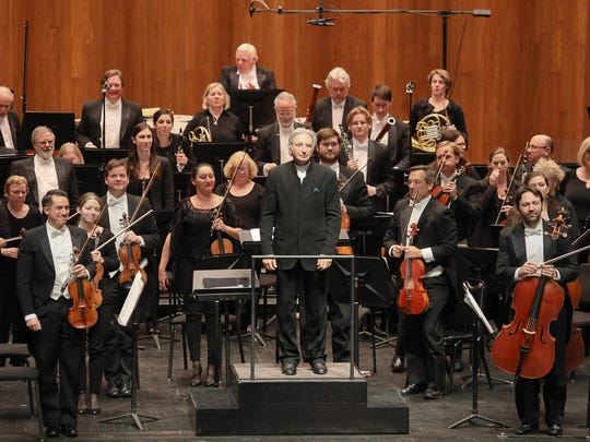 """Scene during """"Classics: Maverick — A Celebration of MTT"""" with San Francisco Symphony music director Michael Tilson Thomas at The Kentucky Center for the Performing Arts in Louisville, KY. Apr. 15, 2017 (by Frankie Steele/Louisville Orchestra)"""
