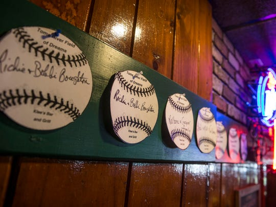 Klee's Bar & Grill is selling baseballs for $5 each