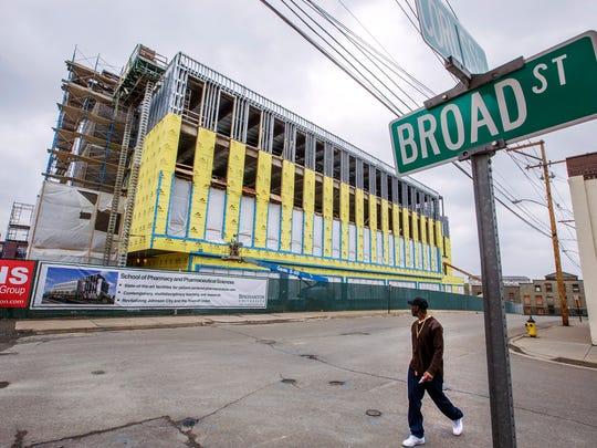 The future home of Binghamton University's School of Pharmacy in Johnson City.
