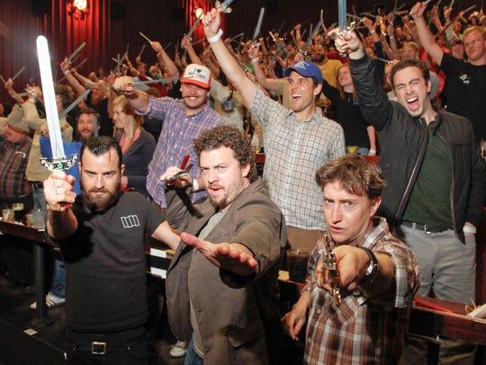 Actors Justin Theroux, Danny McBride and director David