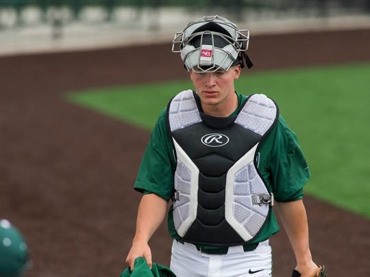Freshman member of the Binghamton University baseball