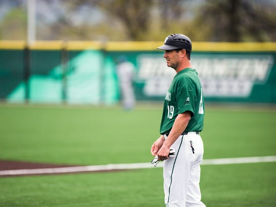 Binghamton University assistant coach Ryan Hurba is a Bainbridge-Guilford High School and Oswego State graduate.
