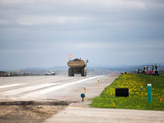 Crews resurfaced the main runway at the Greater Binghamton Airport during the month of May, 2017.The  project closed the airport to commercial traffic for 31 days.