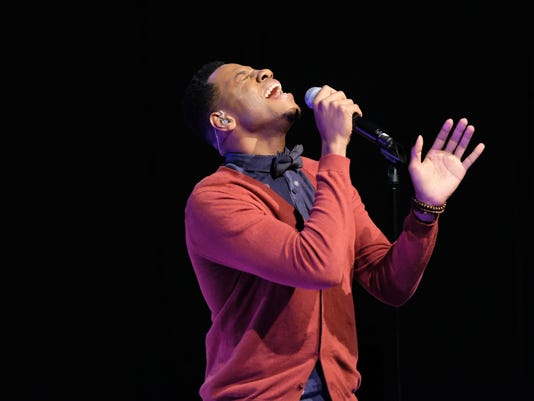 """Chris Blue sings in """"The Voice"""" Top 12 Toyota Performance"""
