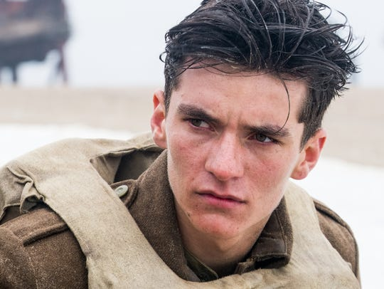 """Fionn Whitehead in a scene from """"Dunkirk,"""" opening"""