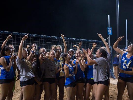 Fountain Hills High School celebrates after winning