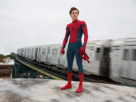 """Tom Holland is Spider-Man in the film, """"Spider-Man: Homecoming."""" (Chuck Zlotnick/Columbia Pictures)"""
