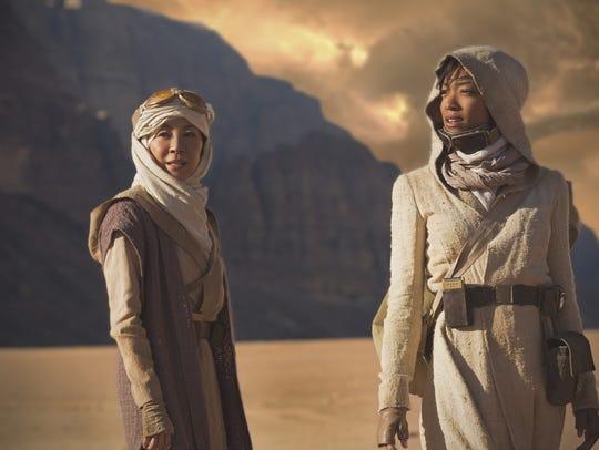 Michelle Yeoh, left, plays Captain Philippa Georgiou