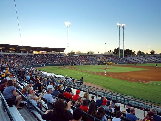 A view of Phoenix Municipal Stadium during the Arizona