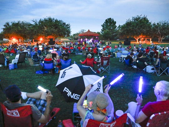 McCormick-Stillman Railroad Park has Sunday night concerts.
