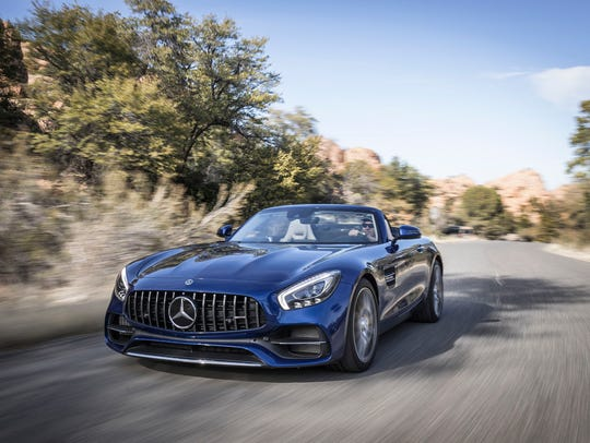 The 2018 Mercedes-AMG GT Roadster, the latest variant