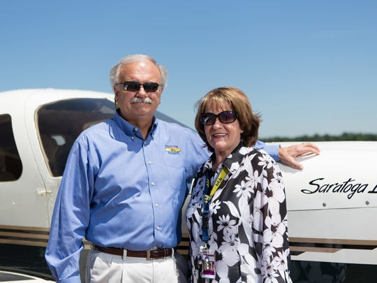 Phillip Thomas, President of Pilots for Patients and wife, Sharon