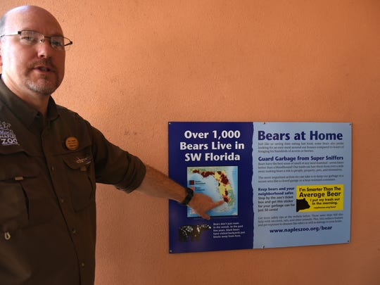 Naples Zoo Director of Conservation Tim Tetzlaff points out the large number of black bears in our area.