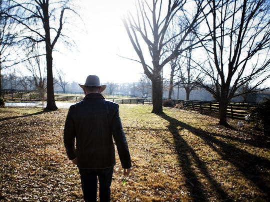 Hermitage Farm owner Steve Wilson leads a tour of the 181-year-old farm Tuesday. Jan. 8, 2013