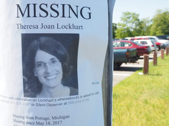 A K9 search was conducted May 31 for Theresa Lockhart in Portage, Mich.