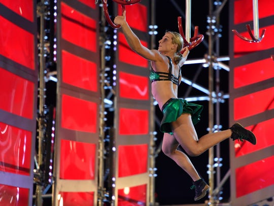 Here's an image from Jessie Graff's historic 'Ninja'