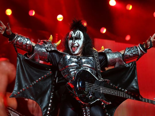 Gene Simmons of KISS performs live as part of the Monster Tour with Motley Crue and Thin Lizzy at Perth Arena on Feb. 28, 2013, in Perth, Australia.