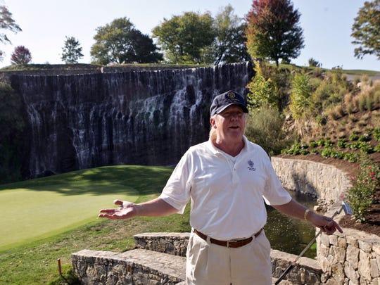 Donald J. Trump at Trump National Golf Club in Briarcliff