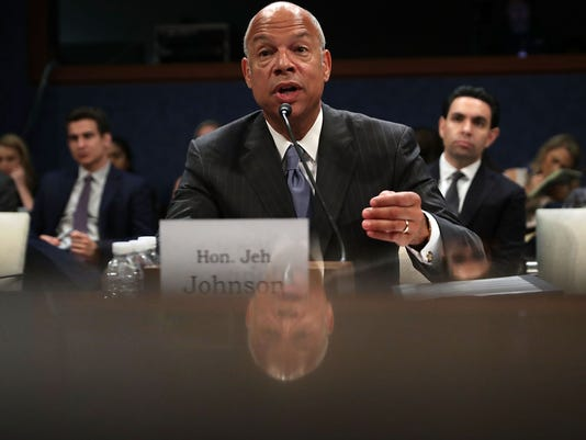 Former Homeland Security Secretary Jeh Johnson Testifies To House Intel Committee Hearing On Russia Interference In Election