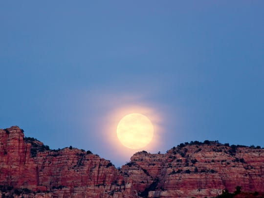 Ranger-led full moon hikes are conducted each month at Red Rock State Park in Sedona.