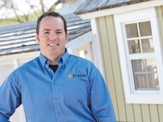 Patrick Biggs, Ph.D., a flock nutritionist for Purina