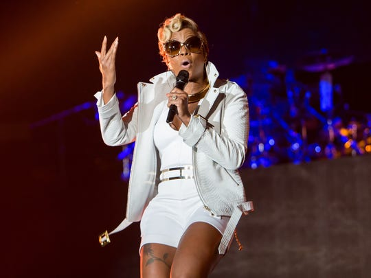 Mary J. Blige performs at Freedom Hill August 1 as
