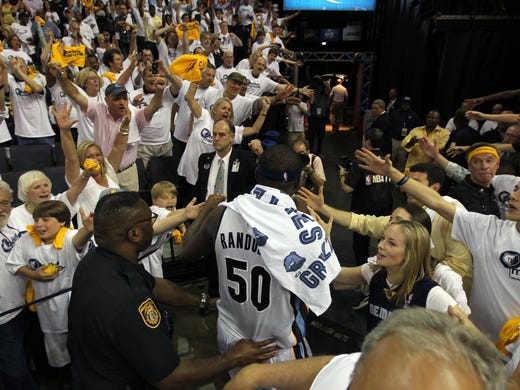 May 13, 2011 -    Fans cheer for Memphis Grizzlies