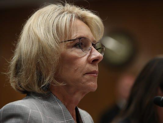 Education Secretary Betsy DeVos Testifies To Senate Hearing On Budget Of Department