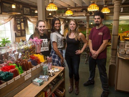 Erin Pruitt, Sarah Borman, Mary Dwulet, owner, and