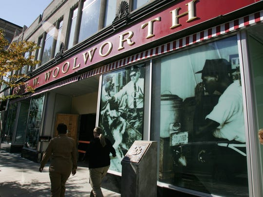 The former Woolworth's in Greensboro, N.C., the site of sit-ins in 1960, is now a civil rights museum.