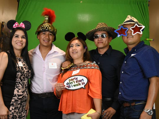 The crew from Bonita Bubbles poses for a green screen photo. Winners of the 19th annual Best of Bonita awards were celebrated Thursday evening in a gala presentation at the Center for the Performing Arts in Bonita Springs.