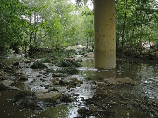 Portions of the East Verde river on Sunday following