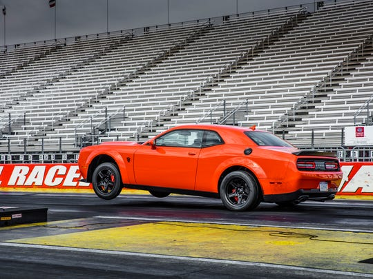 The 2018 Dodge Challenger SRT Demon on the track at