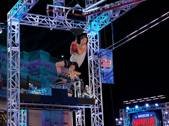 """Knoxville native Grant McCartney competes in """"American Ninja Warrior's"""" Los Angeles city finals."""
