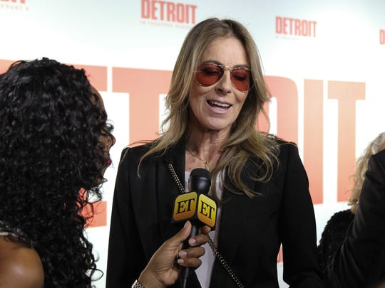 """Kathryn Bigelow, the director of the movie """"Detroit"""", attends the films world premiere at the Fox Theatre on July 25, 2017, in Detroit, MI."""