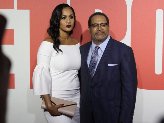 Dr. Michael Eric Dyson (right) on the red carpet for