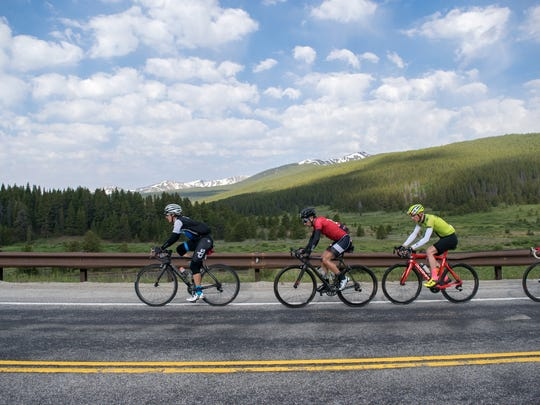 Matthew Busche of Brevard, in lead, won the first Haute Route race in the U.S. in June. He hopes the European race will next land in Asheville.