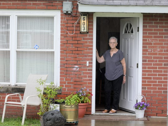 Shirley Fitzgerald, a resident at Beechwood Court, speaks about public housing in New Albany, IN. June 22, 2017