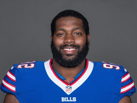 This is a 2017 photo of Adolphus Washington of the NFL Buffalo Bills football team. This image reflects the Bills  active roster as of May  24,  when this image was taken. (AP Photo)